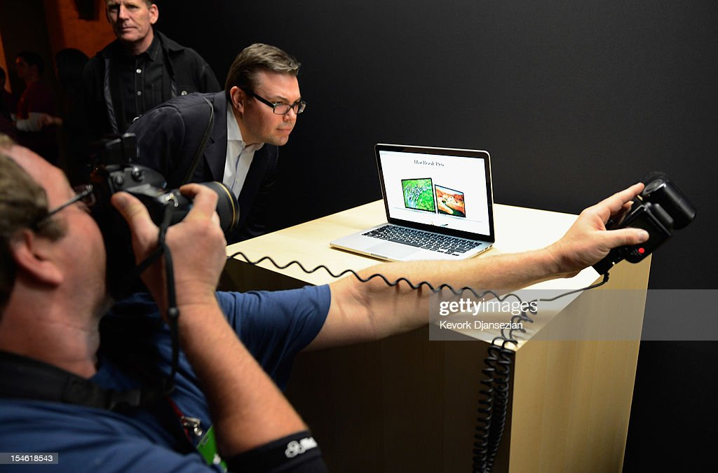 The new 13-inch MacBook Pro is dispalyed after it was unveiled during an Apple special event at the historic California Theater on October 23, 2012 in San Jose, California. Apple introduced the new iPad mini at the event, Apple's smaller 7.9 inch version of the iPad tablet.