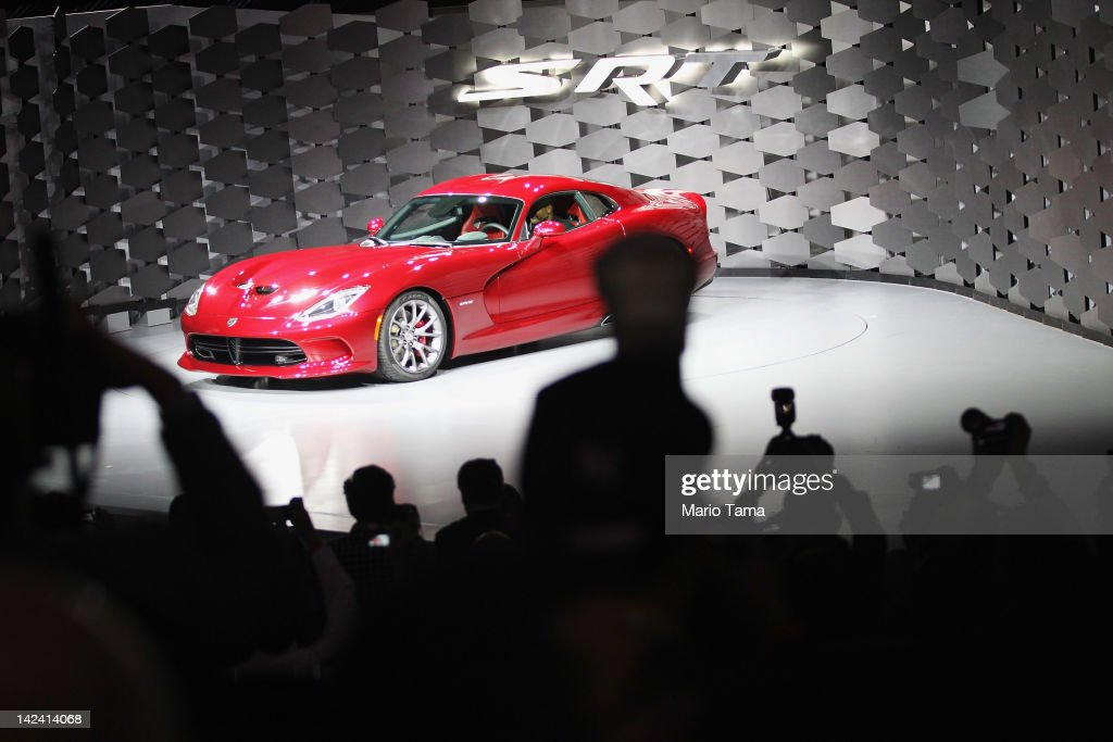 The new 2013 SRT Viper is displayed at the New York International Auto Show at the Jacob Javits Convention Center on April 4, 2012 in New York City. The New York International Auto Show features nearly 1,000 brand new vehicles from all auto industry sectors and is open to the public April 6-15.