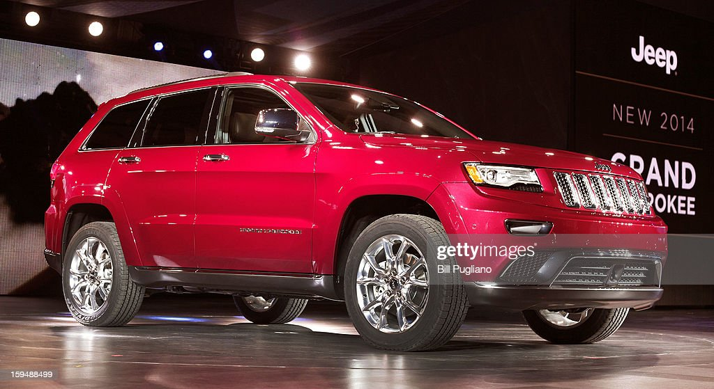 The new 2014 Jeep Grand Cherokee makes its world debut at the media preview of the 2013 North American International Auto Show at the Cobo Center January 14, 2013 in Detroit, Michigan. Approximately 6,000 members of the media from 68 countries are attending the show this year. The 2013 NAIAS opens to the public January 19th.