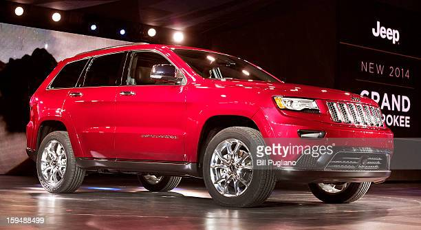 The new 2014 Jeep Grand Cherokee makes its world debut at the media preview of the 2013 North American International Auto Show at the Cobo Center...