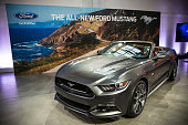 The new 2015 Ford Mustang is revealed on December 5 2013 in New York City The 2015 model marks the 50th anniversary of the Ford Mustang line
