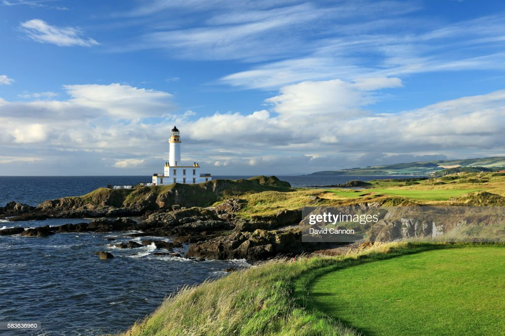 The new 248 yards par 3 ninth hole of the Ailsa Course at the Trump Turnberry Resort on July 11 2016 in Turnberry Scotland