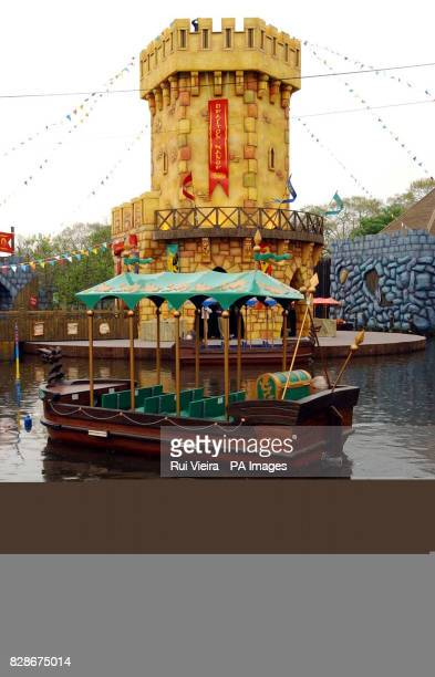 The new 25 million family 'boat' ride Excalibur a Dragon's Tale at Drayton Manor Park in Staffordshire