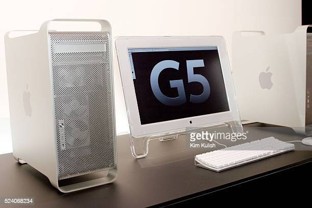 The new Apple Power Mac G5 personal computer on display at the Apple World Wide Developers Conference Apple CEO Steve Jobs says the new G5 available...