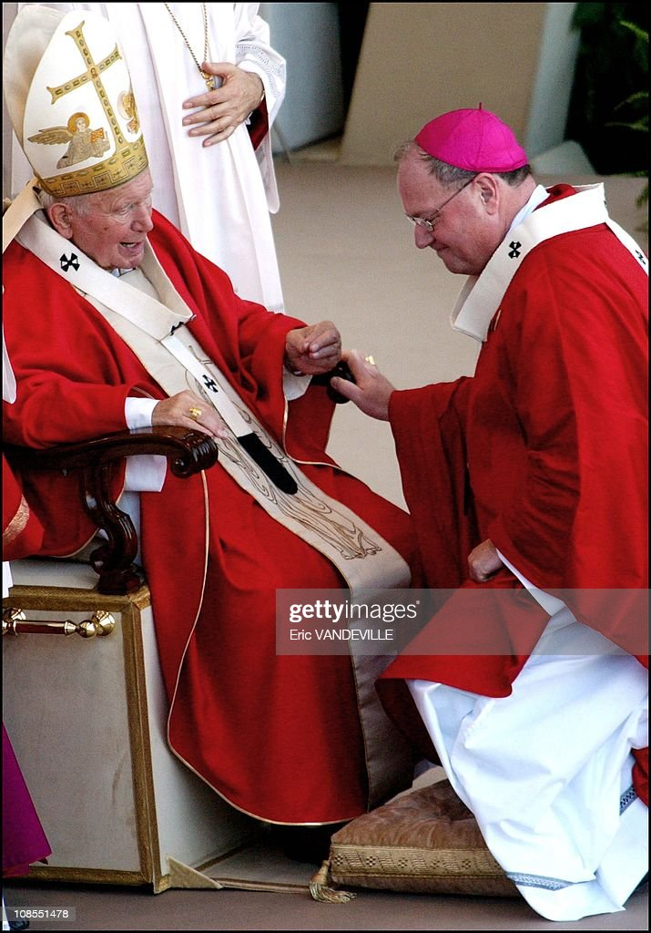 The new Archibishop of Milwauukee Wisconsin Timothy Michel Dolan in Rome Italy on June 29th 2003