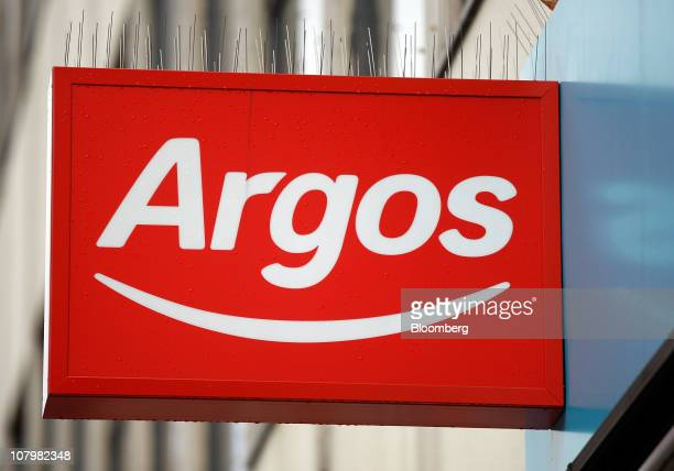 The new Argos logo is display outside a store operated by Home Retail Group Plc in London UK on Tuesday Jan 11 2011 UK retail sales fell last month...
