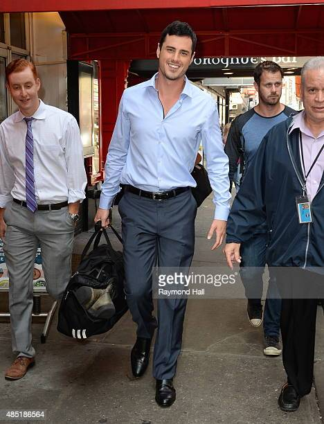 The New Bachelor Ben Higgins is seen walking in 'Times Square' on August 25 2015 in New York City