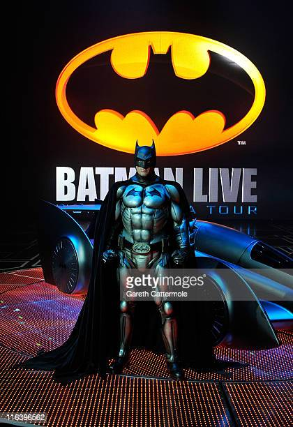 The new Batmobile designed by Gordon Murray to be used in the live stage production of Batman Live World Arena Tour is unveiled for the first time at...