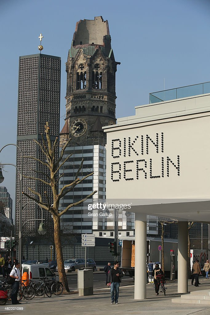 The new Bikini Berlin shopping mall stands near the Kaiser Wilhelm Memorial Church also called the Gedaechtniskirche on the shopping mall's opening...