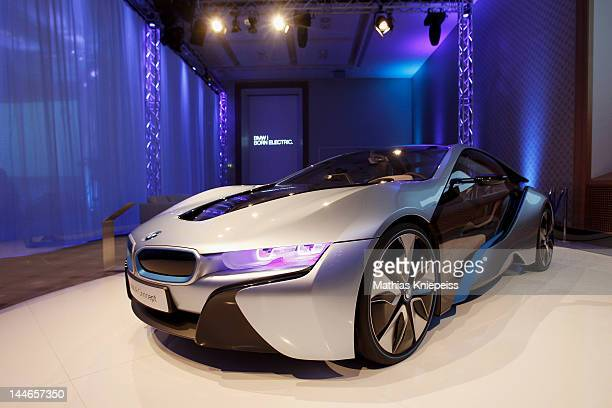 The new BMW i8 is present at the second day of the CGDC Annual Meeting on May 17 2012 in Vienna Austria The Center for Global Dialogue and...