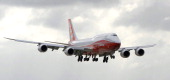 The new Boeing 7478 Intercontinental lands at Le Bourget airport near Paris on June 19 2011 Boeing's new 7478 Intercontinental long version of its...