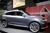 The new Borgward BX7 at the Borgward stand at the 2015 IAA Frankfurt Auto Show during a press day on September 16 2015 in Frankfurt Germany The IAA...
