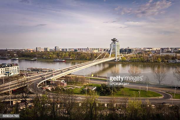 The New Bridge (UFO Bridge) in Bratislava