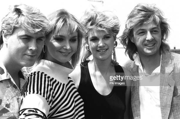 The new Bucks Fizz lineup with latest member Uxbridgeborn Shelley Preston second right who moved to Dorset aged eleven but has more recently been...