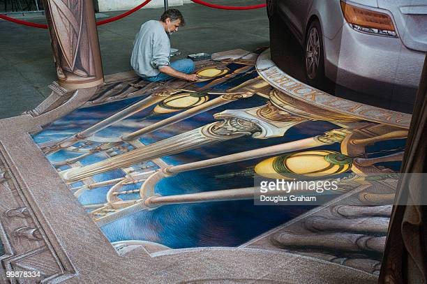 The new Buick Lacrosse was the subject of this 3D street art project sponcered by Buick at Union Station September 18 2009 The project will be...