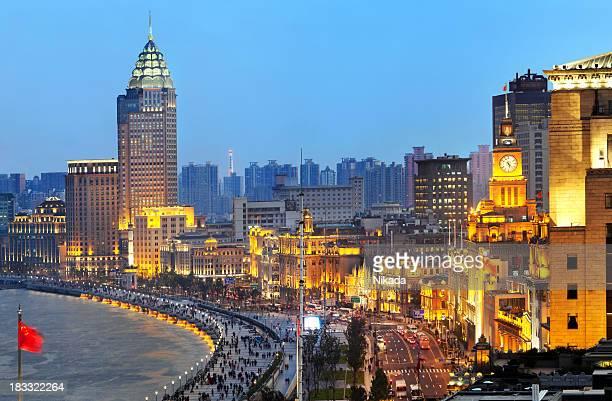 O novo Bund em Xangai, China