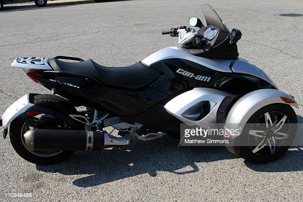The new CanAm Spyder at an undisclosed location on October 23 2007 in Los Angeles California