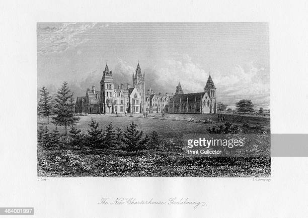 The New Charterhouse Godalming Surrey late 19th century Charterhouse a public school was founded by Thomas Sutton in London in 1611 on the site of a...