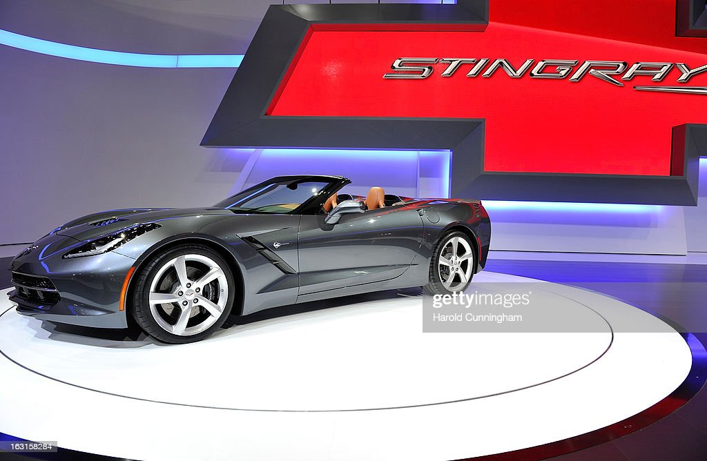 The new Chevrolet Corvette Stingray convertible is seen during the 83rd Geneva Motor Show on March 5, 2013 in Geneva, Switzerland. Held annually with more than 130 product premiers from the auto industry unveiled this year, the Geneva Motor Show is one of the world's five most important auto shows.