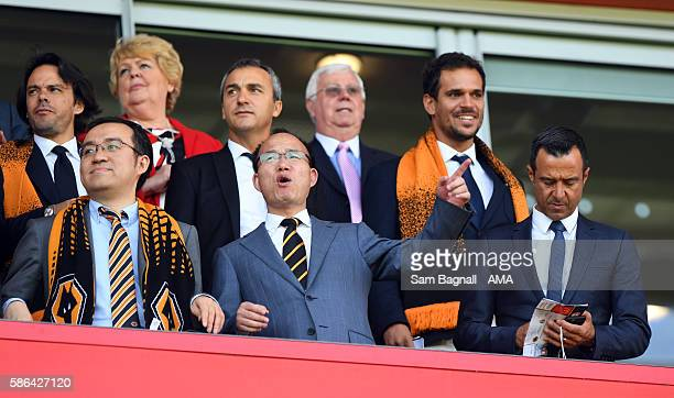 The new Chinese owners Jeff Shi of Fosun International Limited and Wolverhampton Wanderers Guo Guangchang the chairman of Fosun International Limited...