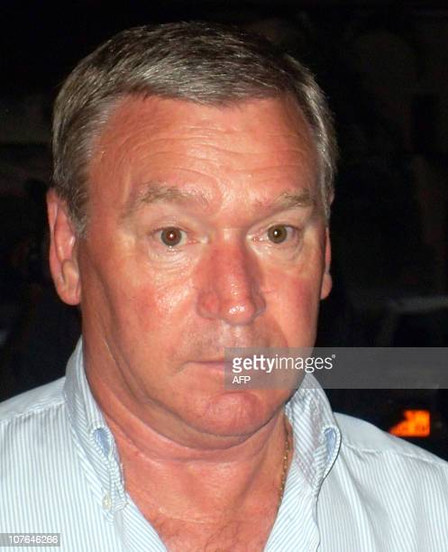 The new coach of Cameroon's national football team Javier Clemente of Spain attends arrives for a press conference on August 27 2010 in Yaounde...