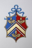 The new Coat of Arms for Catherine Middleton's family is displayed at the College of Arms in London on April 18 2011 in London England Catherine...