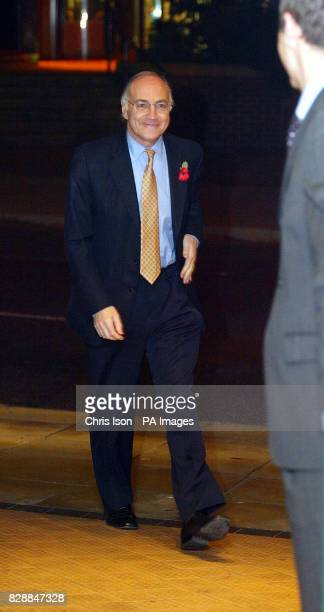 The new Conservative Party leader Michael Howard arrives at the YMCA in Guildford Surrey where he refused to be drawn any further on the Portillo...