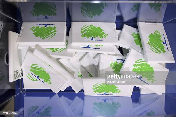 The new Conservative party logo is displayed on a novelty gift on October 2 2006 in Bournemouth England In his first party conference as Tory leader...