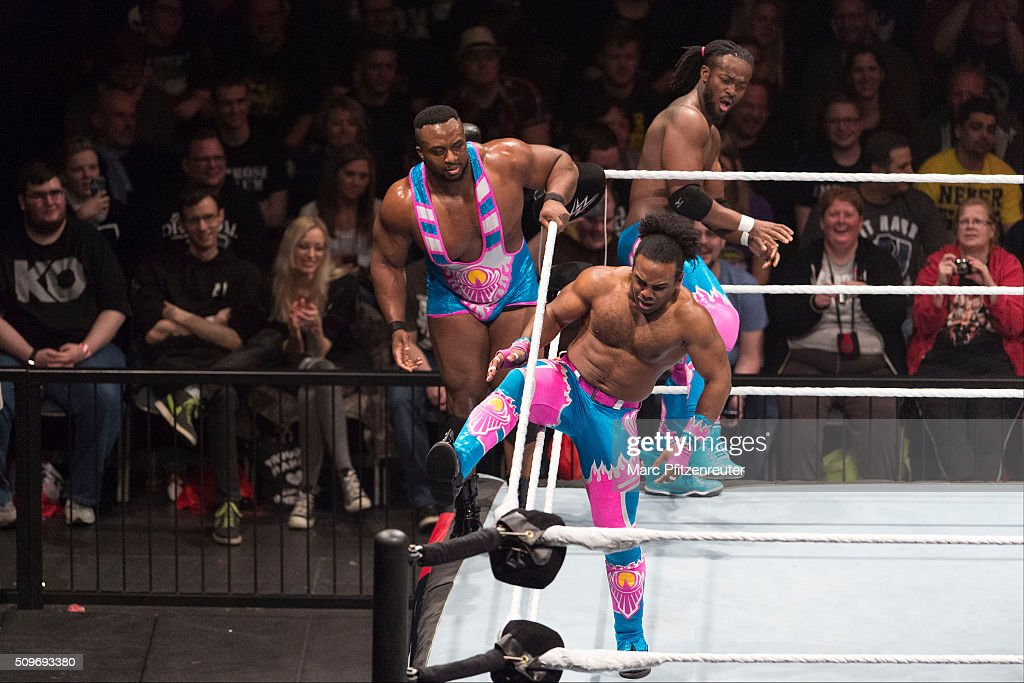 The New Day during WWE Road to WrestleMania at the Lanxess Arena on February 11, 2016 in Cologne, Germany.