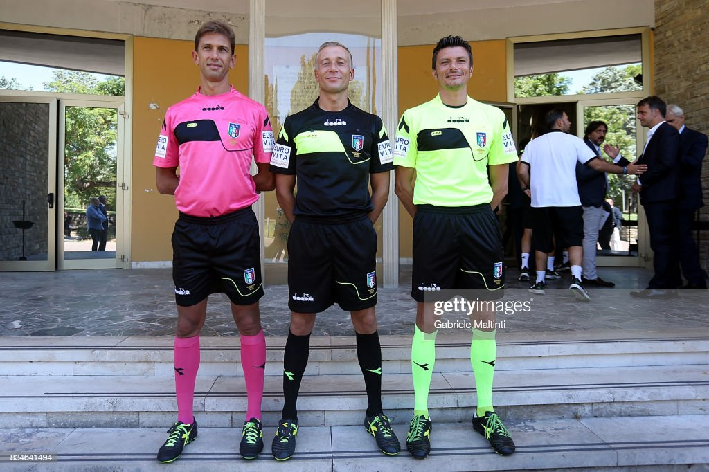 The new divisions of Diadora for Referees for the 2017-2018 season at Coverciano on August 18, 2017 in Florence, Italy.