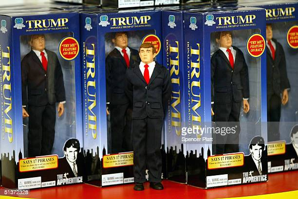 The new Donald Trump 12inch talking doll September 29 2004 at the Toys 'R' Us store in New York City The doll's phrases which were recorded by Trump...
