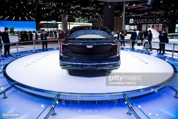 The new Escala car from Cadillac is pictured during the first day of the 17th Shanghai International Automobile Industry Exhibition in Shanghai on...