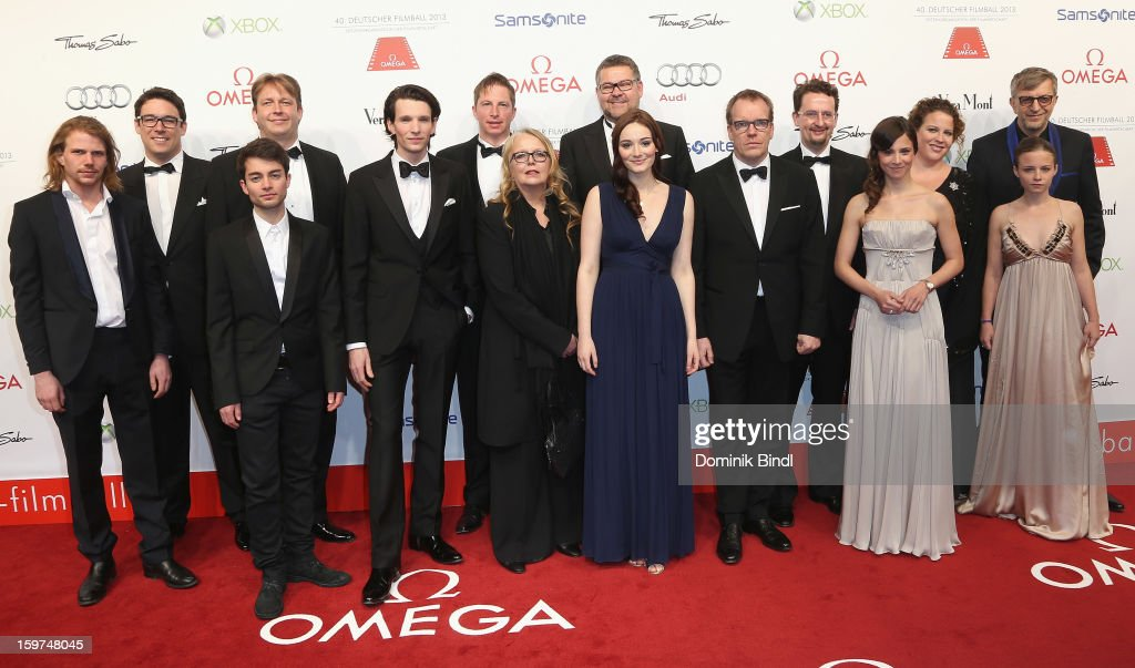 The New Faces Team attend the Germany Filmball 2013 at Hotel Bayerischer Hof on January 19, 2013 in Munich, Germany.