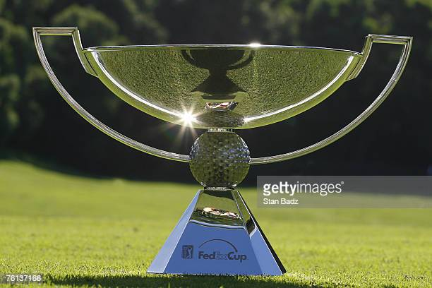 The new FedExCup trophy on display during the first round of the MercedesBenz Championship held on the Plantation Course at Kapalua in Kapalua Maui...