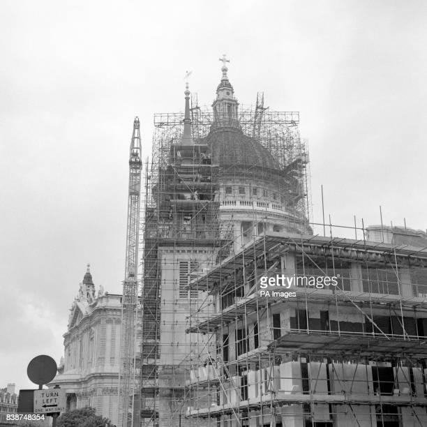 The new fibre glass spire in place atop the former St Augustine's Church which adjoins St Paul's and is to be the Cathedral's new choir school The...