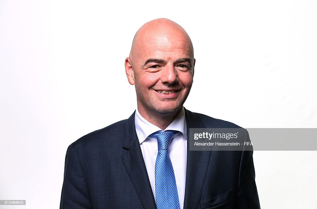 The new FIFA President Gianni Infantino poses for a portrait after the Extraordinary FIFA Congress at Hallenstadion on February 26, 2016 in Zurich, Switzerland.