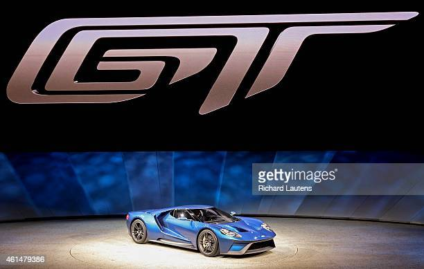 The new Ford GT as it is unveiled to the media The North American International Auto Show opened to the media at Cobo Hall in Detroit Around 40 new...