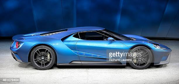 The new Ford GT is displayed for the media The North American International Auto Show opened to the media at Cobo Hall in Detroit Around 40 new...