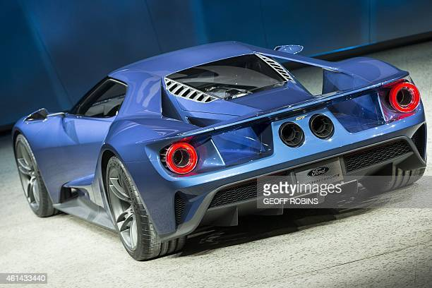 The new Ford GT is introduced at the 2015 North American International Auto Show in Detroit Michigan January 12 2015 Ford plans to begin production...
