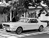 The new Ford Mustang which was introduced to the public on April 17 1964 at the New York World's Fair Florida 1963