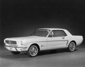 The new Ford Mustang which was introduced to the public on April 17 1964 at the New York World's Fair Detroit Michigan 1964