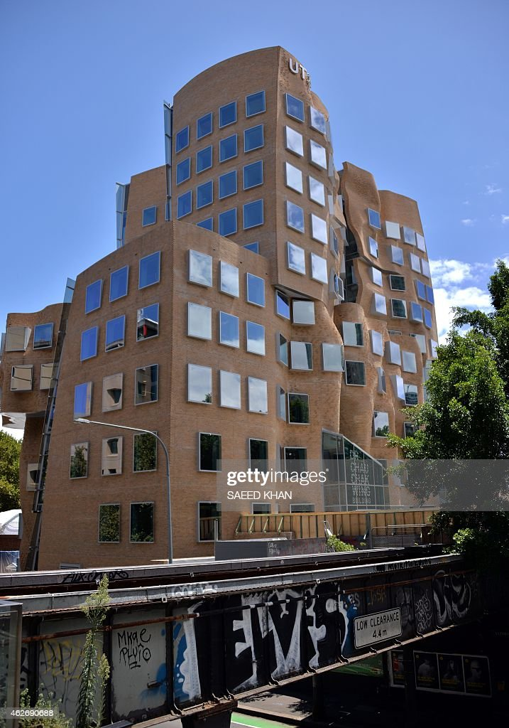The new Frank Gehrydesigned Chau Chak Wing Business School building at the University of Technology in Sydney is pictured on February 3 2015 The new...