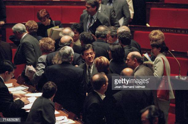 The new French government at the National Assembly Paris 28th March 2000 JeanLuc Mélenchon is at centre