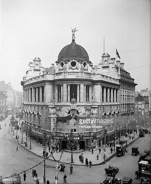 The new Gaiety Theatre London 1911 An imposing building on the corner of The Strand and Aldwych which replaced an earlier theatre It opened in...