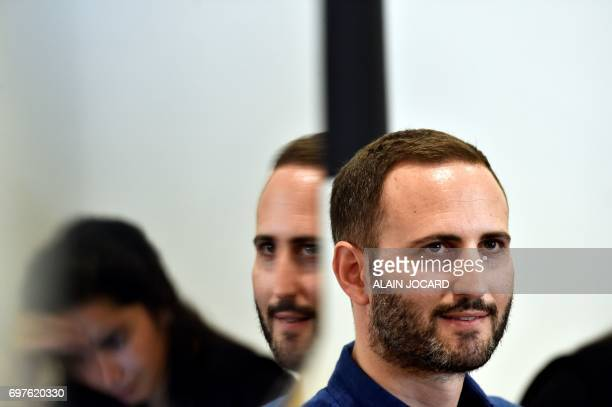 The new General Manager of Uber France Steve Salom is pictured during a press conference on June 19 in Paris / AFP PHOTO / ALAIN JOCARD