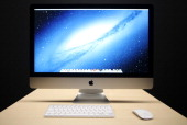 The new generation iMac is seen during Apple's special event at the California Theatre in San Jose on October 23 2012 in California AFP PHOTO/...
