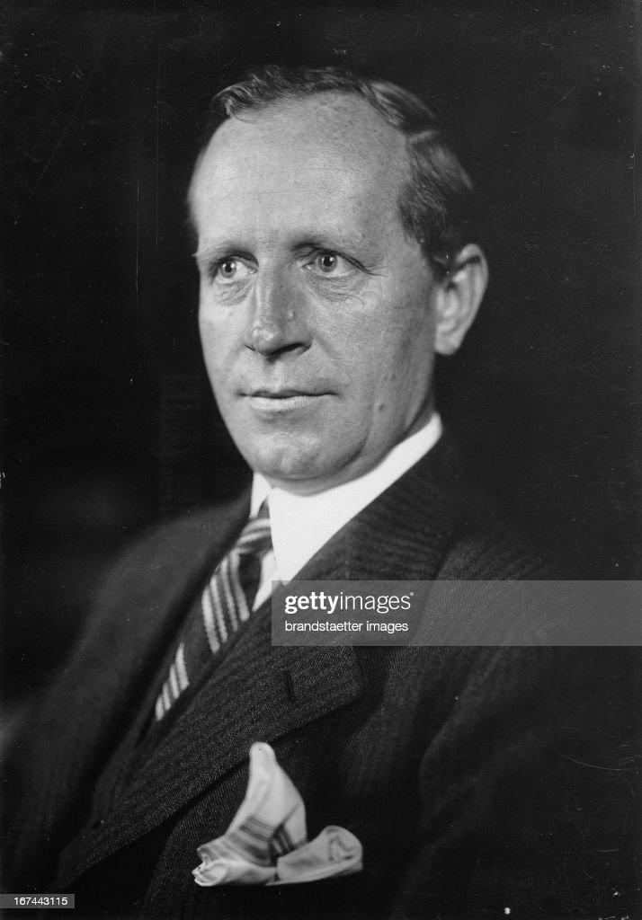 The new German Minister for Economics Kurt Schmitt. 1933. Photograph. (Photo by Imagno/Getty Images) Der neue deutsche Reichswirtschaftsminister Kurt Schmitt. 1933. Photographie.