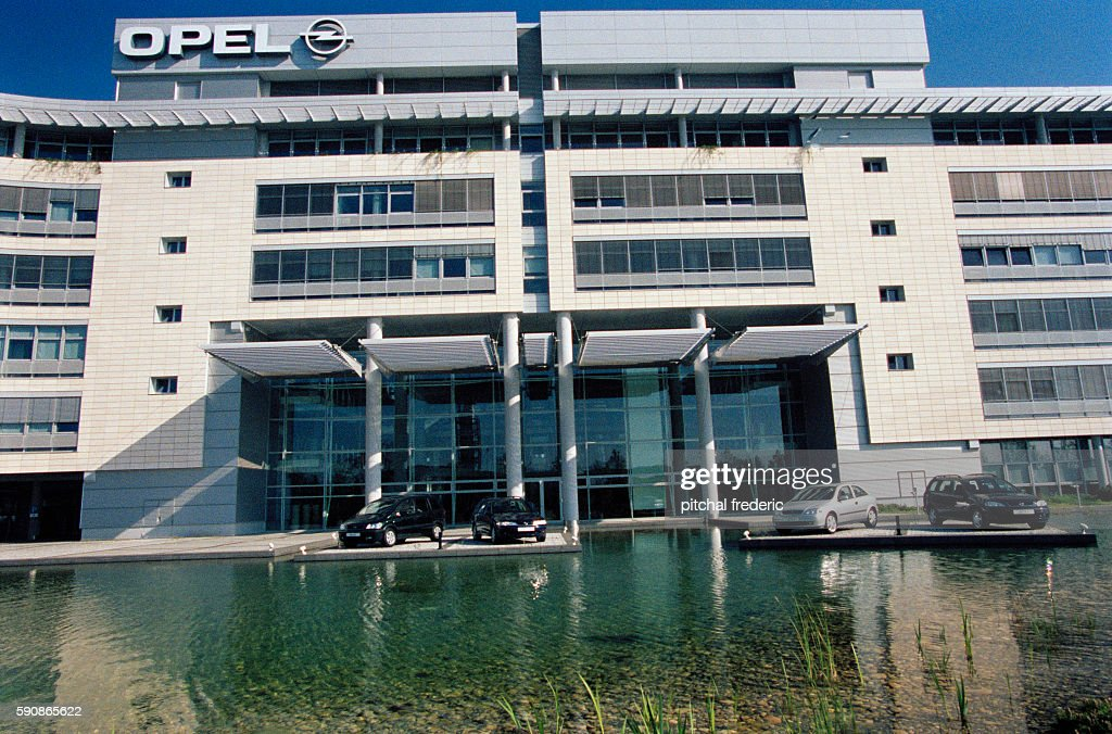 The new headquarters of German car maker Opel located in Russelsheim