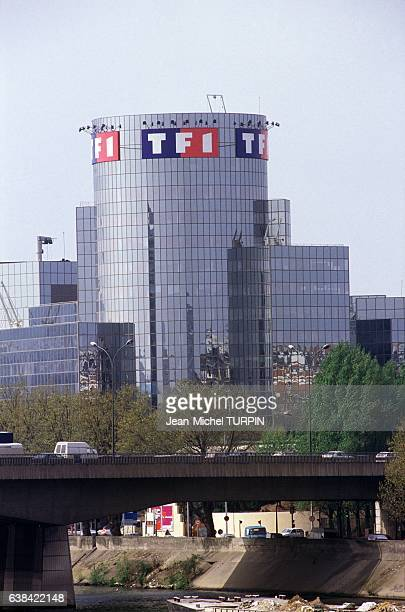 The new headquarters of TV channel TF1 on April 24 1992 in Paris France