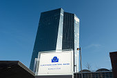 The new headquaters of the European Central Bank pictured on March 9 2015 in Frankfurt am Main Germany The formerly economically disadvantaged part...